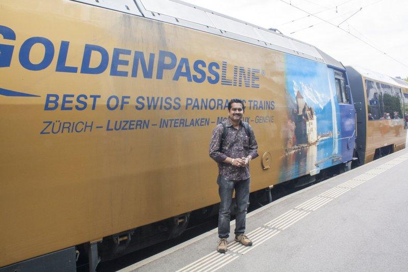 Golden Pass Railways in Montreux