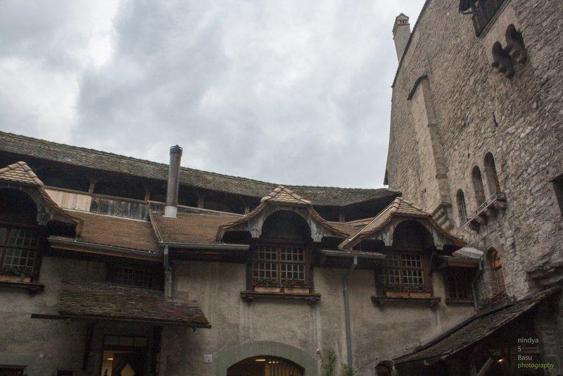 Inside Chateau de Chillon Montreux