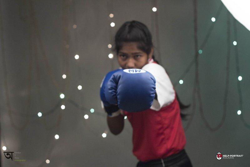 Help Portrait kolkata 2014 Knockout punch by Taslima