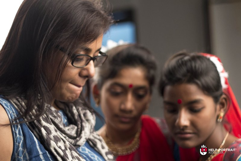 Help Portrait kolkata 2014 Behind the scenes where the pictures get analysed