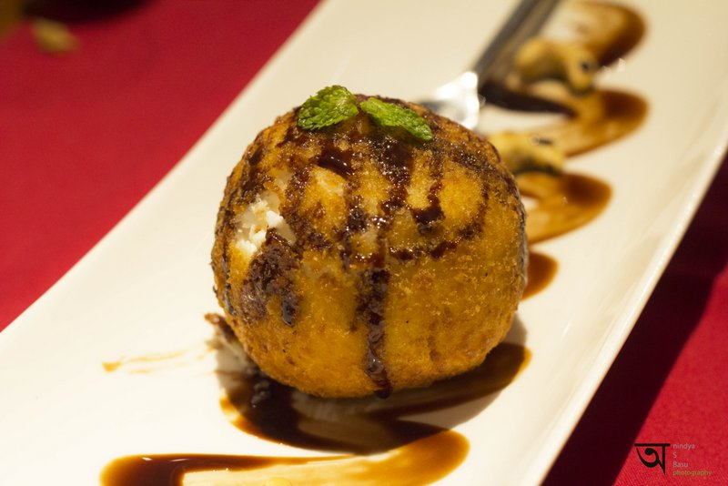 Fied Ice Cream at The Orient ffor Raichak Kolkata