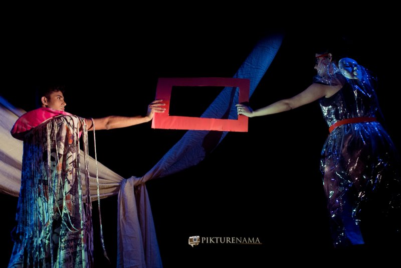 Ishita and her alter ego as a part of Fine Art photography workshop in kolkata by Agnimirh Basu
