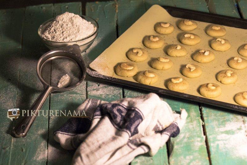 Finished Nan Khatai the original Indian cookie with Dutch origin preparation