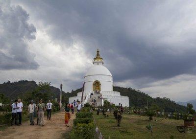Inside World Peace Pagoda Pokhara