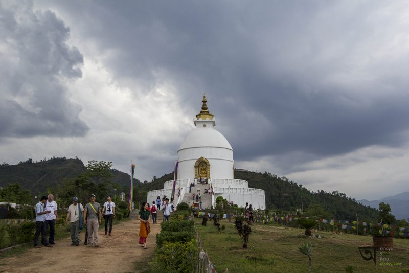 Inside World Peace Pagoda Pokhara