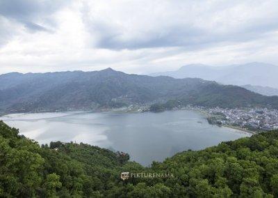 Phewa Lake from World Peace Pagoda Pokhara