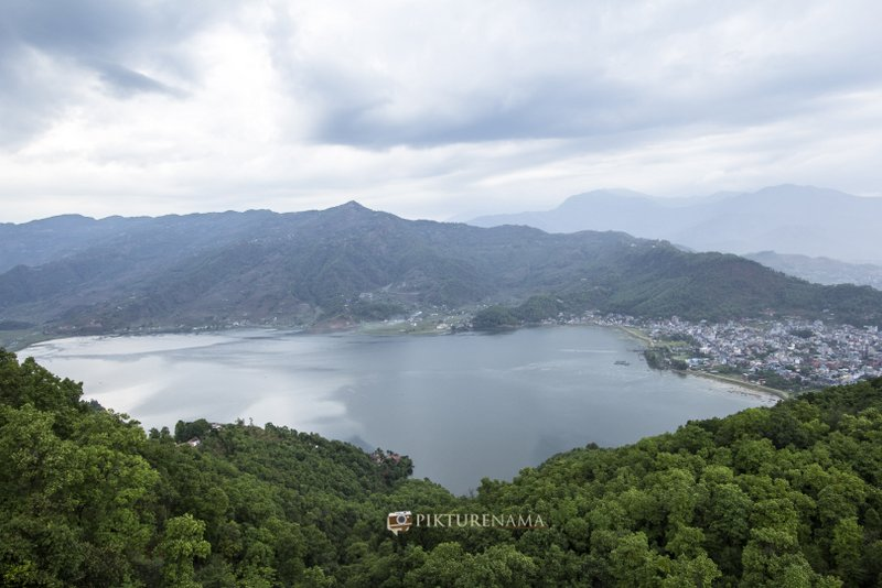Phewa Lake from World Peace Pagoda Pokhara
