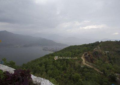 Phewa Lake and valley from World Peace Pagoda Pokhara