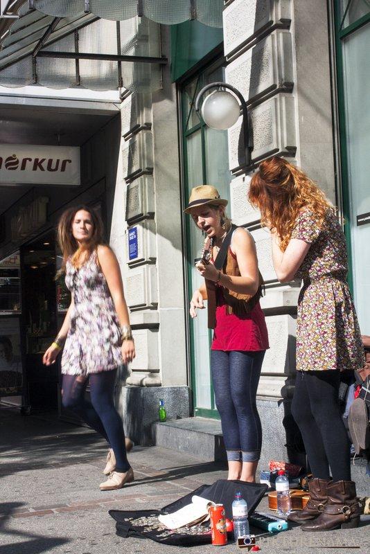 Street artists at Zurich