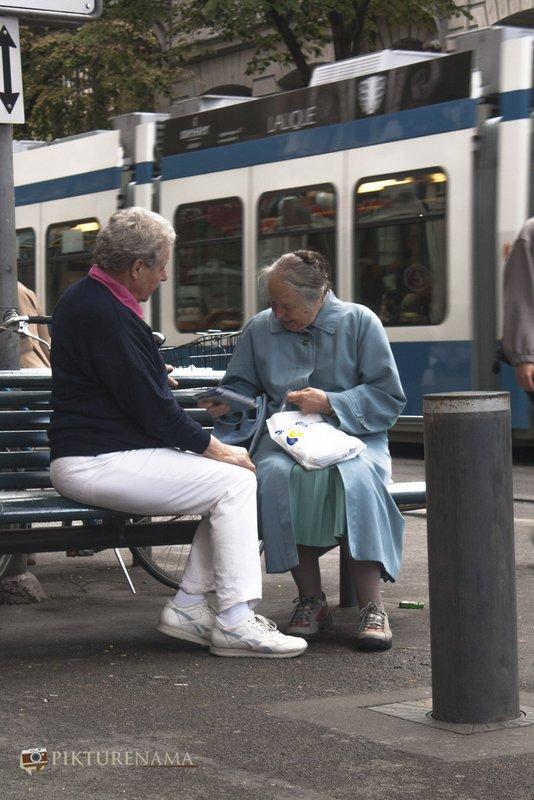 Near Hauptbahnhoff Railway station at Zurich a piece of friendship