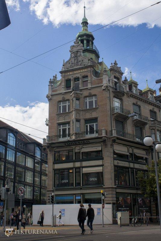 Architectural marvel around Bahnhofstrasse