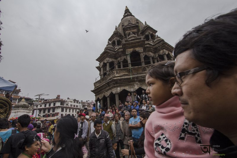 little onlooker at Rato Machhendranath festival in Kathmandu Nepal . Pictures by pikturenama