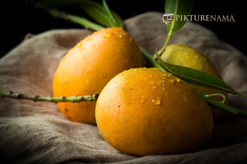 Mango for Mango Chicken salad with zesty coriander and chili dressing