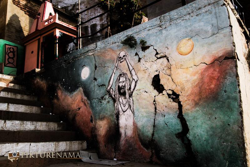 Graffiti on Varanasi Ghats Tantrik