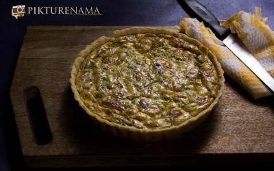 Quiche Lorraine – our working evening snack