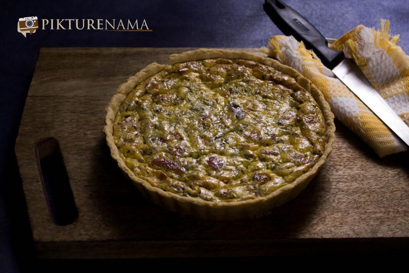 Quiche Lorraine – our working evening snack