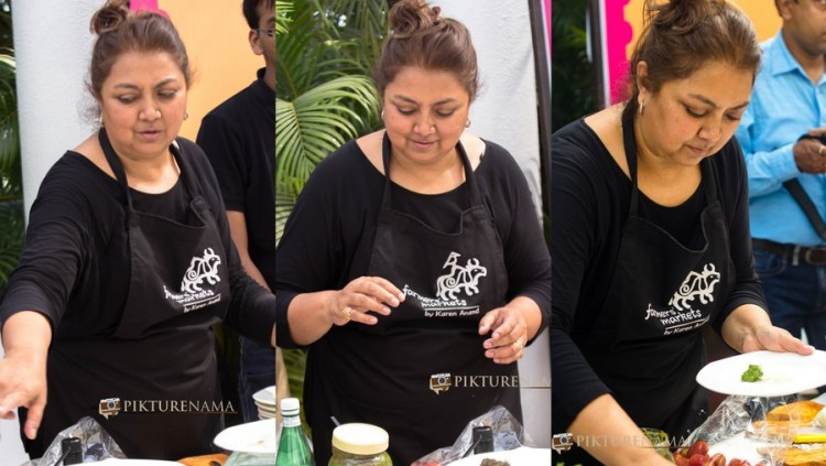 Lady in Action at The farmers market kolkata by Karen Anand