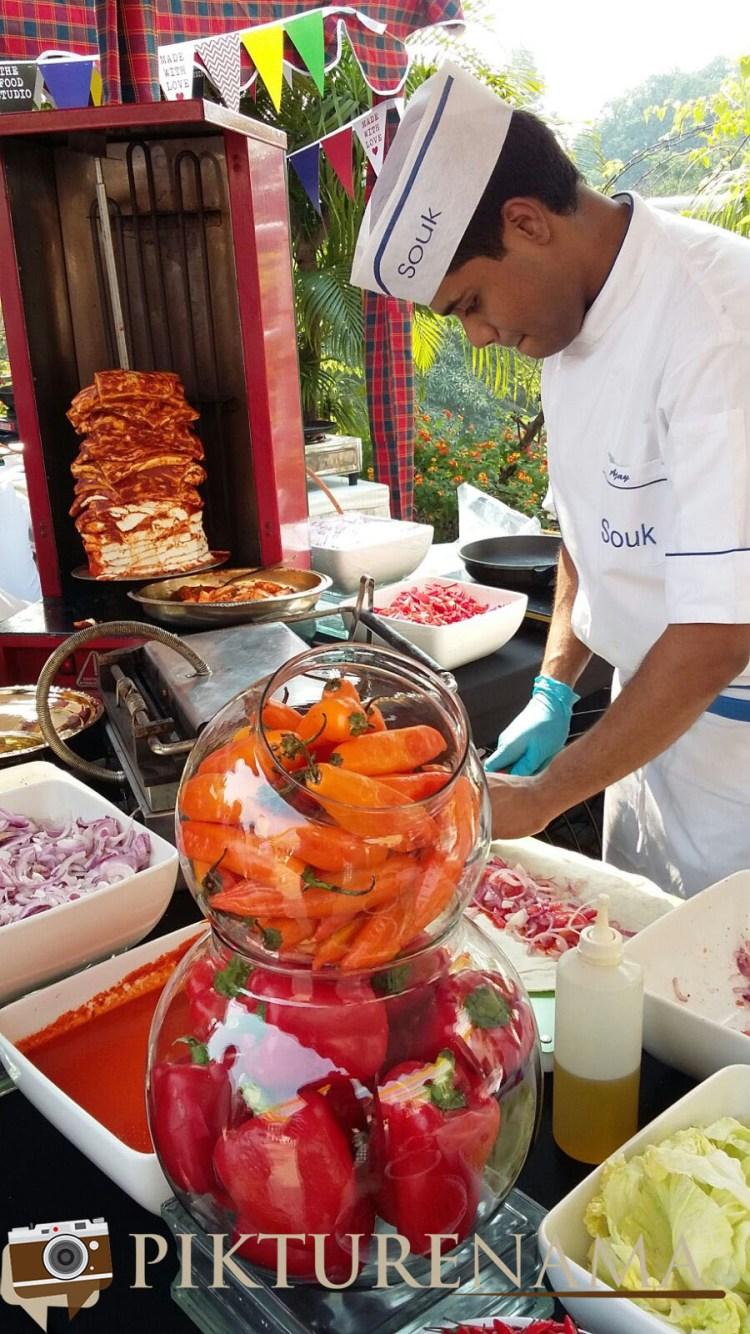 Paneer Shawarma at The farmers market kolkata by Karen Anand