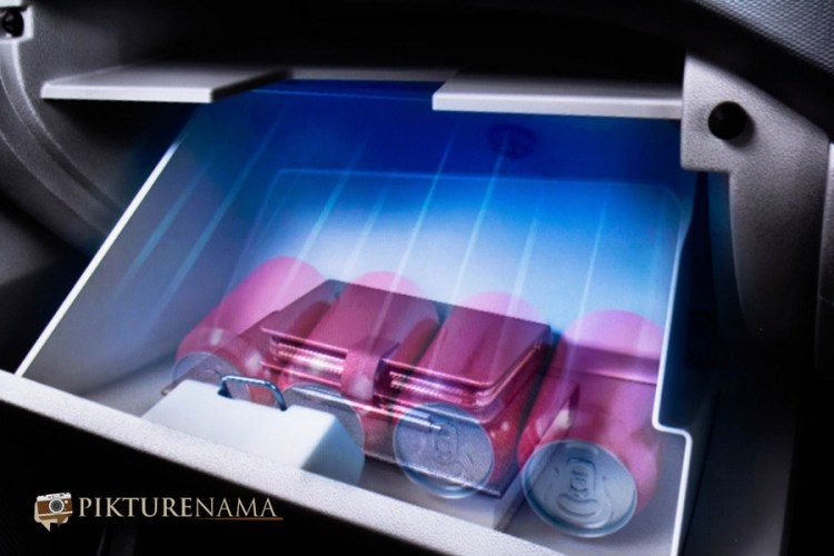 The chilled glove compartment