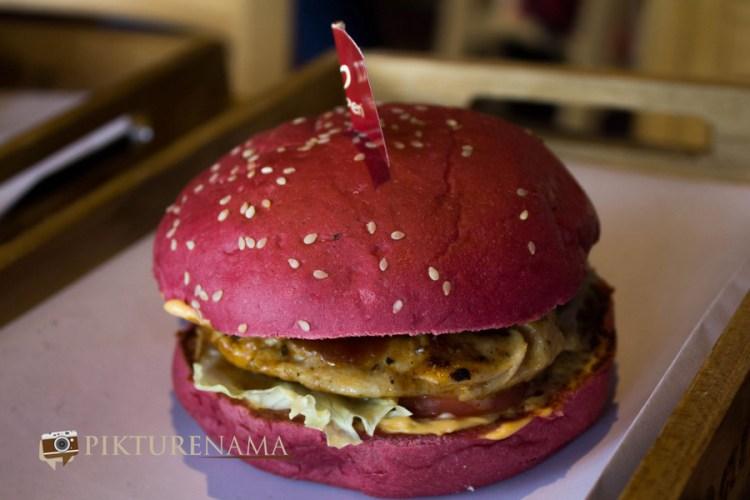Red burger at Barcelos Kolkata