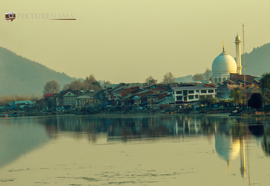 Hazratbal Srinagar from Dal Lake