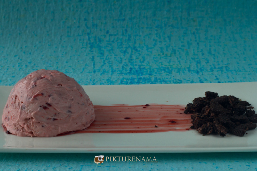 Raspberry semifreddo and a story of desserts