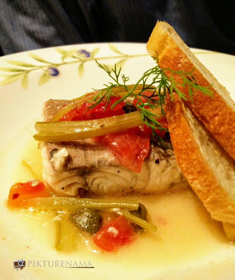 Italy on a plate Sea Bass