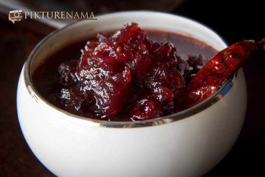 Cranberry chutney with Panchphoron