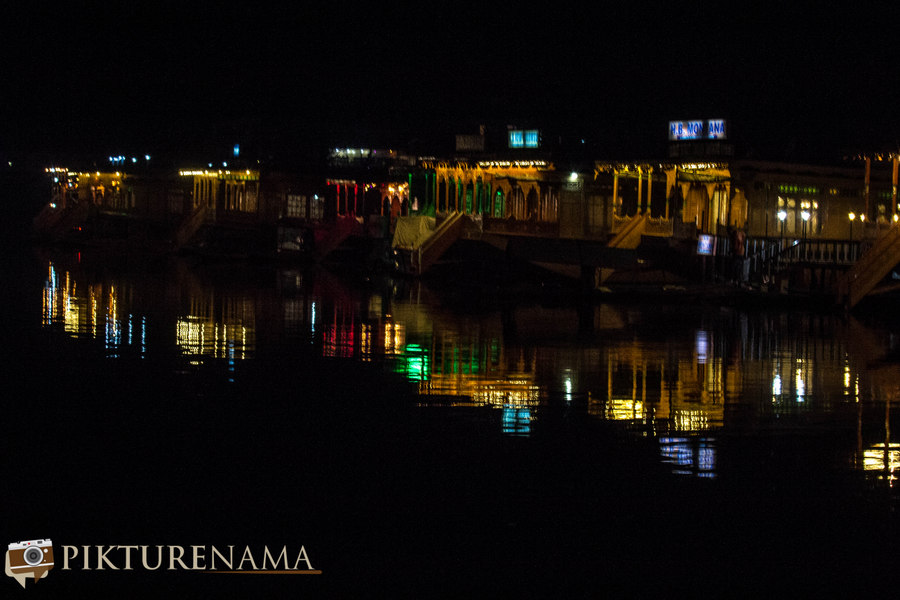 Kashmir Houseboat night - 7