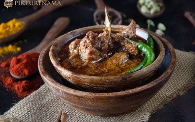 Mutton korma and Kosha Mangsho cook off