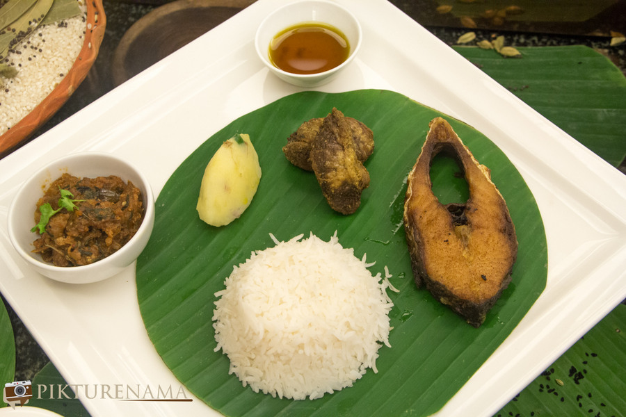 Bengal rajbari Ilish the accompaniments