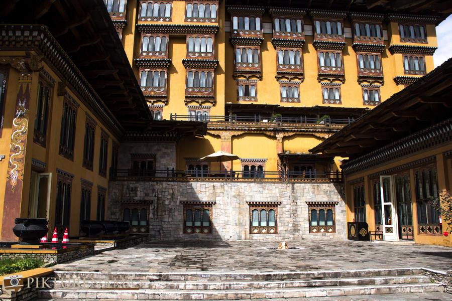 Taj Tashi Thimpu Bhutan courtyard