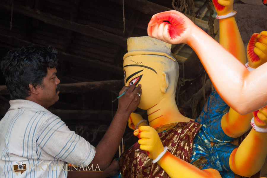 Elements of Durga Puja prayers Kumartuli 2
