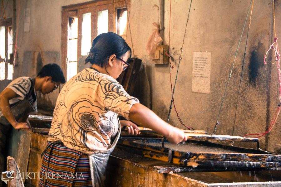 Jungshee Paper factory Thimpu Bhutan - 19