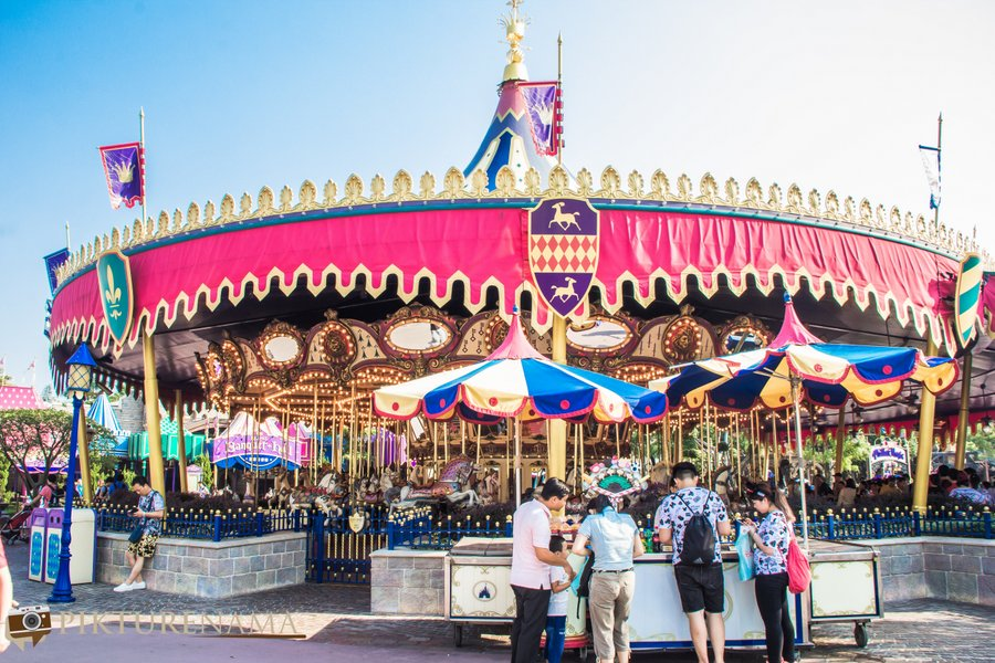 Cinderella Carousel at Hong Kong  Disneyland