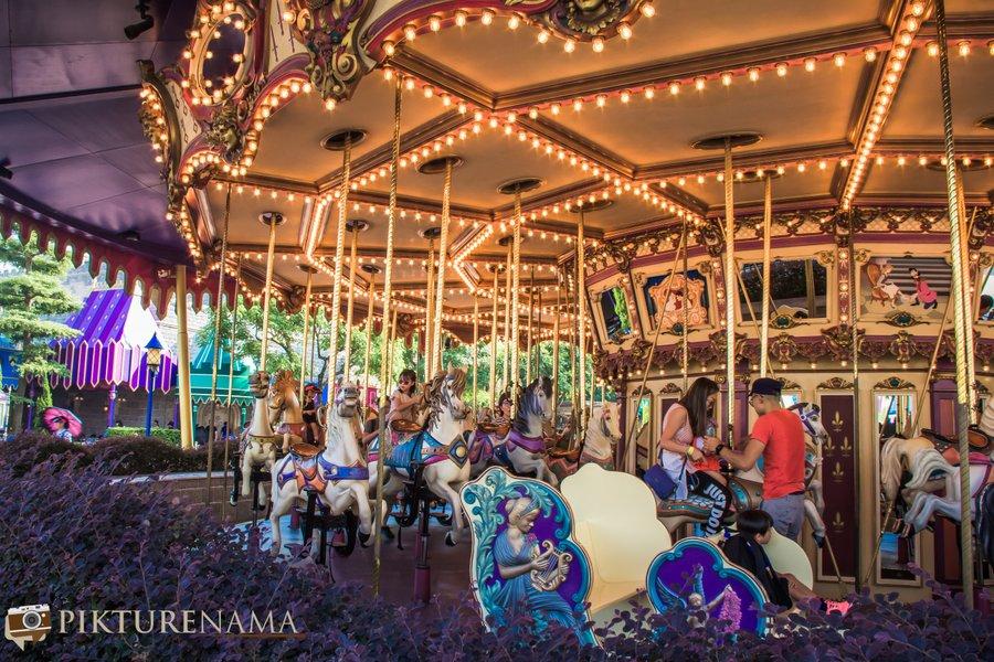 Cinderella Carousel at Hong Kong Disneyland - 3