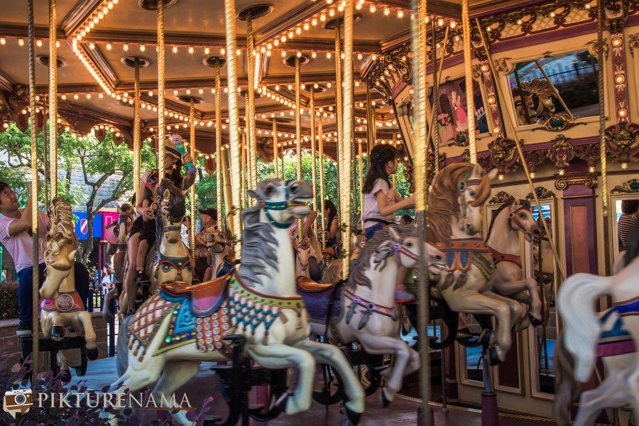 Cinderella Carousel at Hong Kong Disneyland - 7