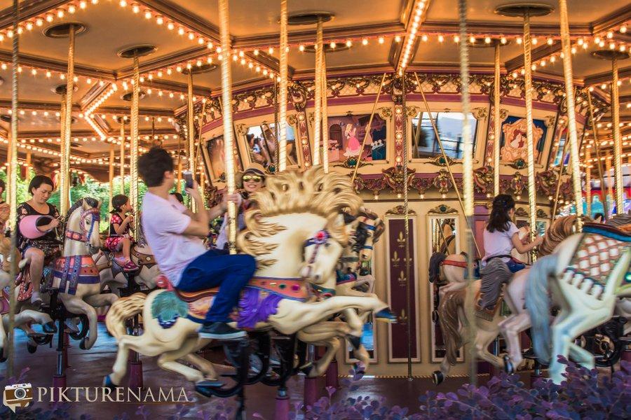 Cinderella Carousel at Hong Kong Disneyland - 8