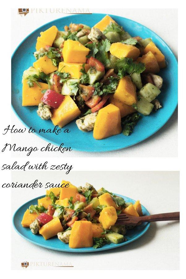 Mango chicken salad pinterest 1