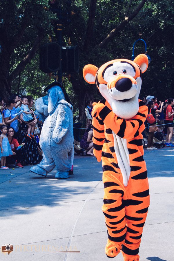 Flights of Fantasy in Hong Kong DIsneyland - Tigger