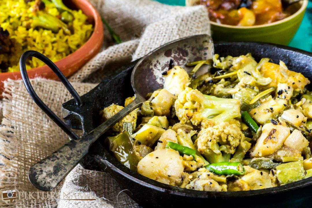 Labra bengali Style mixed fried vegetable - 5