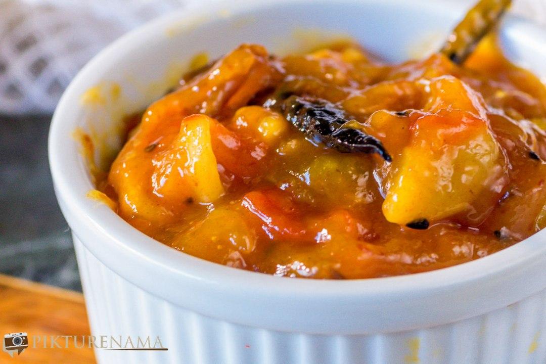 Tomato khejur aamshottor chutney - 6