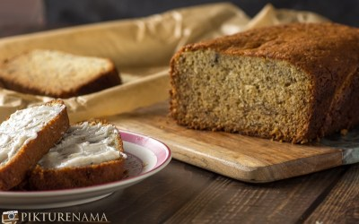 Banana Bread with Maple Butter cream and my relationship with bananas