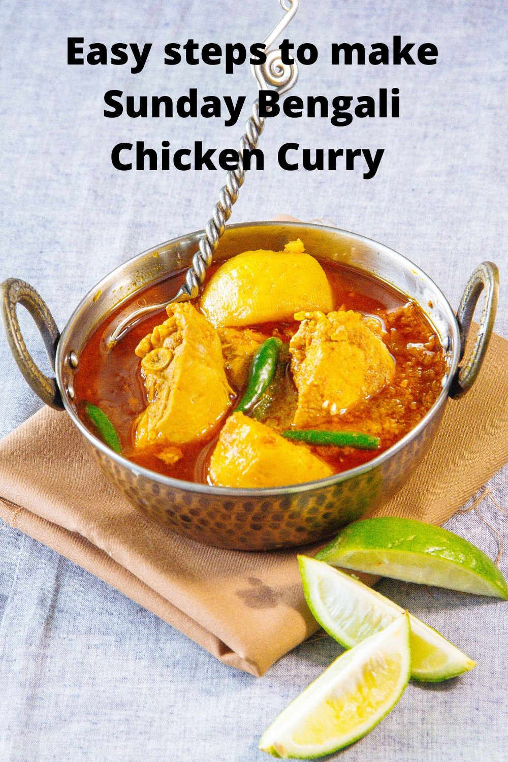 Easy steps to cook Sunday bengali chicken curry - 1