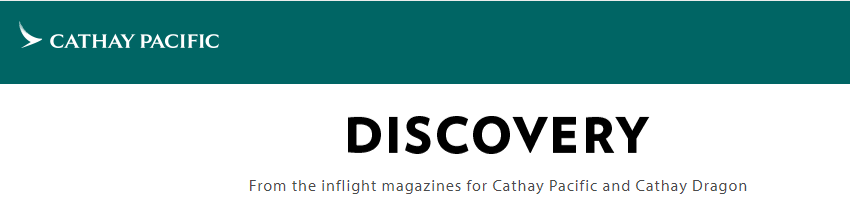 Discovery Cathay Pacific online magazine