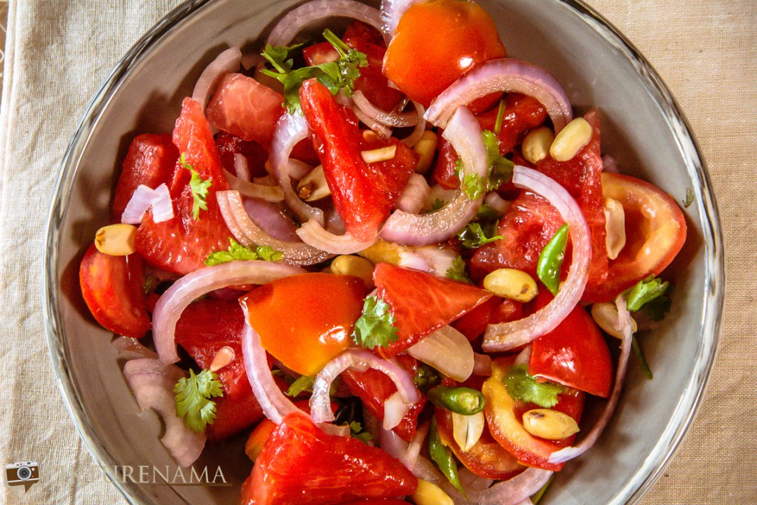 Spicy watermelon salad - 6