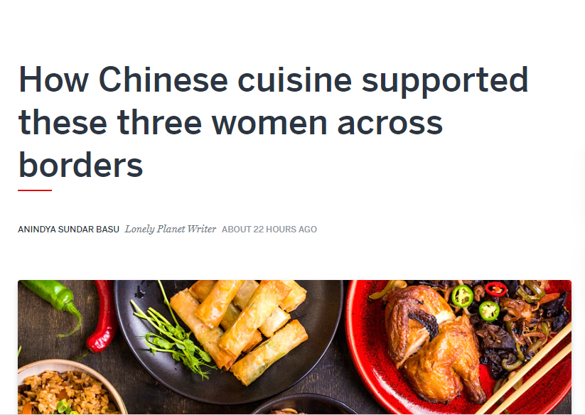 Lonely Planet India article on Chinese cuisine