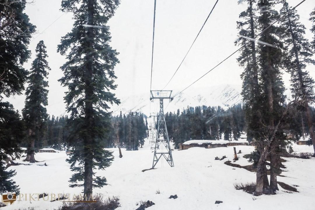 Gulmarg gondola ride from far