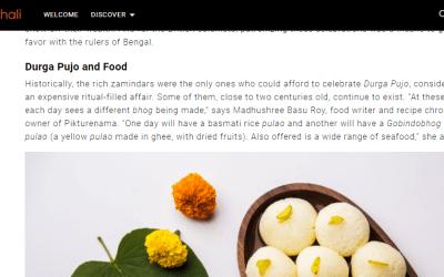 Roundglass Thali – Durgapuja An Exuberant Bengali Affair