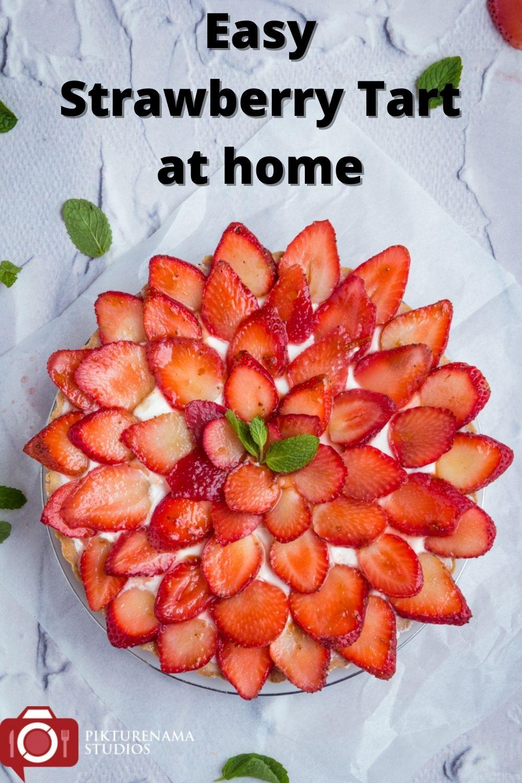 Easy way to make strawberry Tart - Pinterest 1